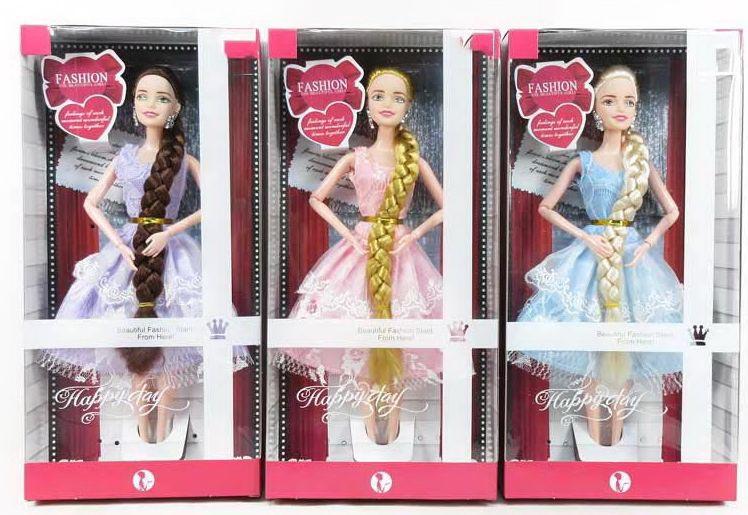Кукла №SDM930 с длинной косой/коробка/33*5*16