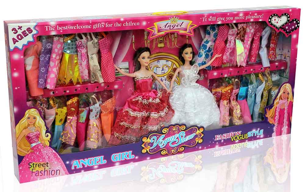 Кукла №MD-10D2 с набором платьев/2шт/коробка/81*7*38