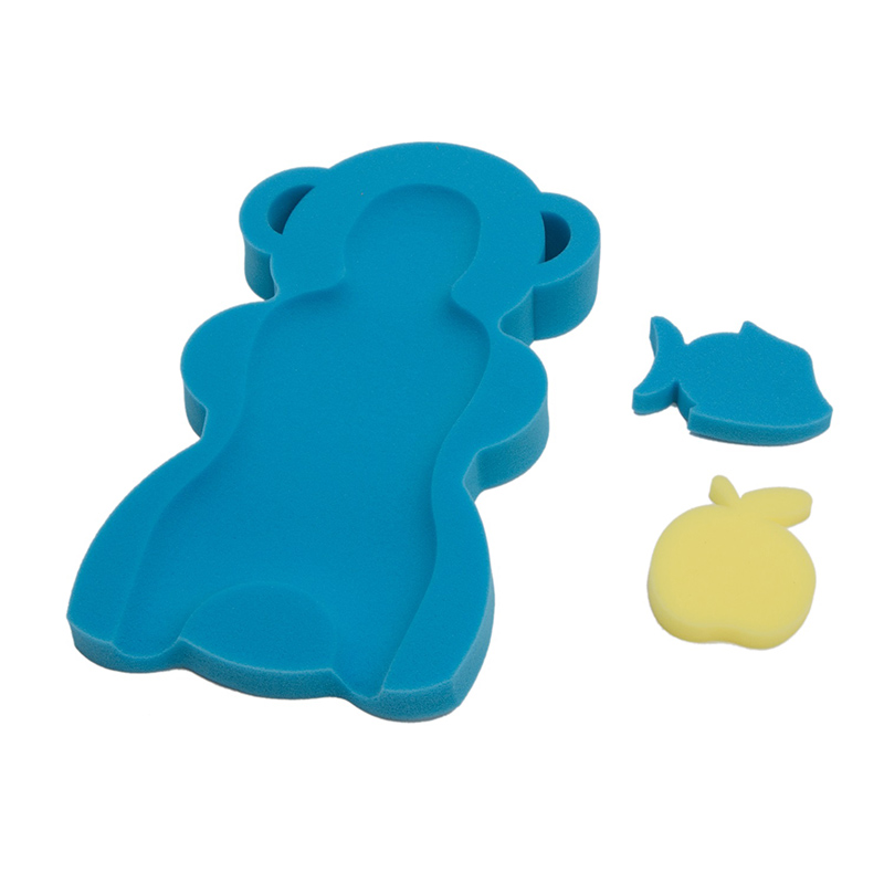 Матрас- губка для купания в наборе Everflo АРТ-9000 синий