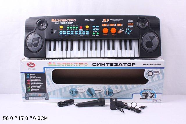 Синтезатор 0888 с микрофоном в коробке 56*17*6 /36шт//бл./