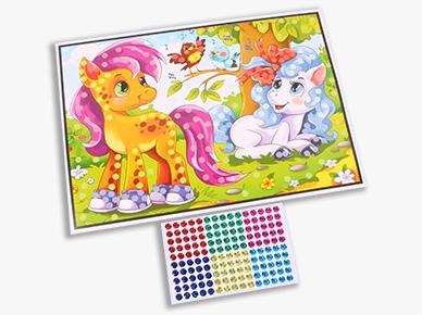 М-8814 Мозаика гелевая 19х26 см. ПОНИ В САДУ