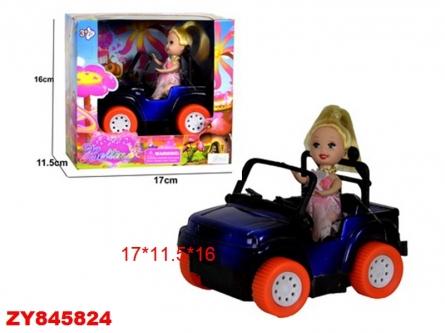 "ZY845824 Мини-кукла в наборе ""КУКЛА ЗА РУЛЕМ"""