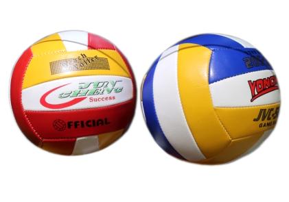 01112 Мяч волейбольный ПВХ (260гр), радуга, 2 цвета