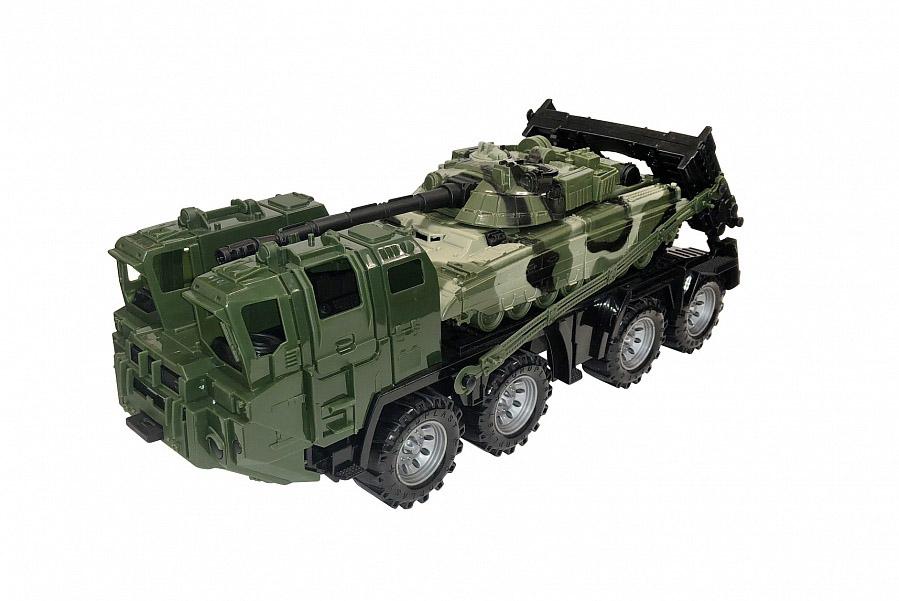 """Военный тягач """"Щит"""" с танком (камуфляж) 258/1"""