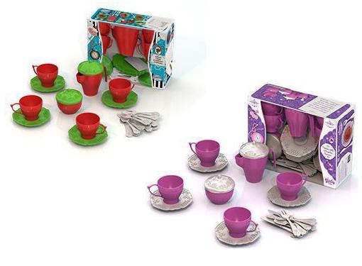 """Подарочный набор дет.посуды 641 Чайный сервиз """"Волшебная Хозяюшка"""" №1"""
