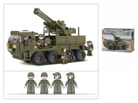 M38-B0302 Конструктор пластиковый. SLUBAN Сухопутные войска. Тяжелый транспортер (306 дет.,4 фигур.)