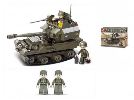 M38-B0282 Конструктор пластиковый. SLUBAN Танковый корпус. Танк 290 (178 деталей, 2 фигурки)