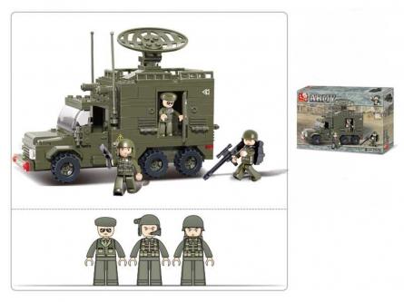 M38-B0300 Конструктор пластиковый. SLUBAN Сухопутные войска.Передвижной радар (230 деталей,3 фигур.)