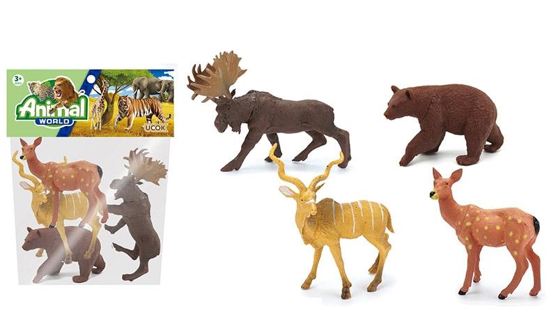 Набор диких животных №2A249-1/пакет/26*21*4
