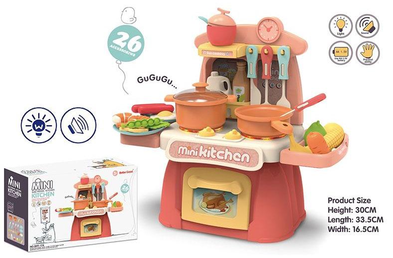 Игровой модуль Кухня №889-174/26 предметов/звук,свет/коробка/36*13*23