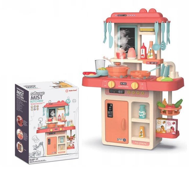 Многофункциональная кухня №889-168/звук,свет, вода, пар/42 предметов/коробка/50*15*35