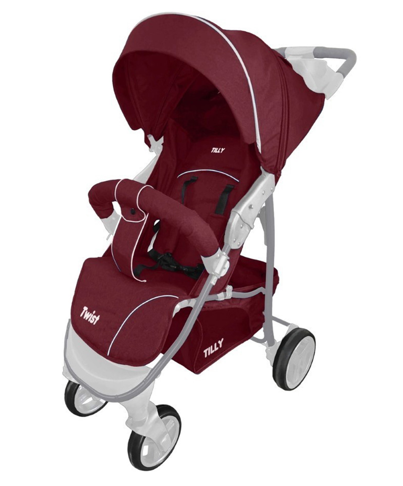 Коляска прогулочная BABY TILLY T  T-164 Twist Flame Red