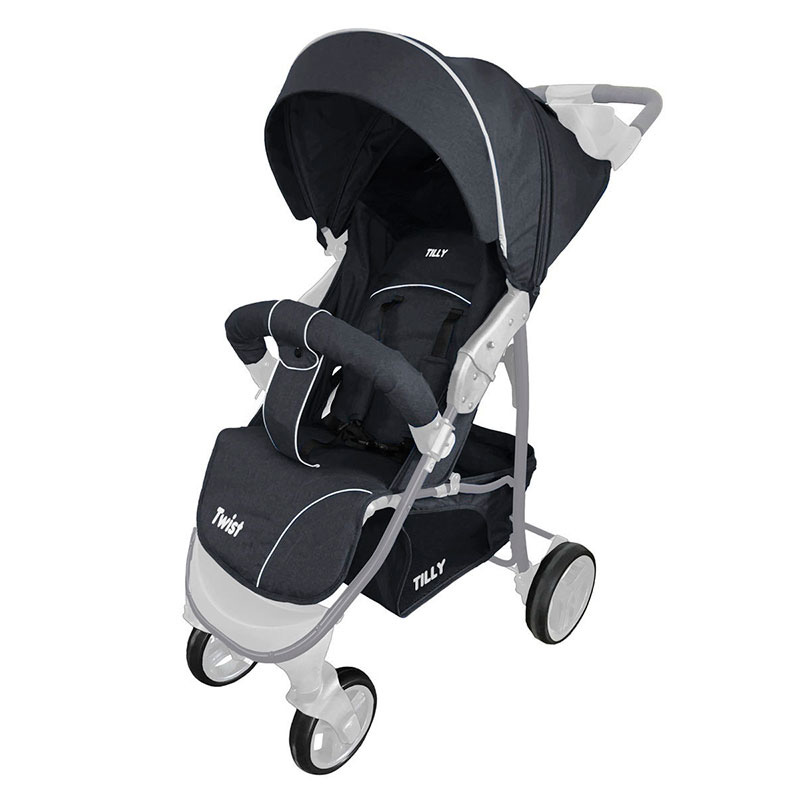 Коляска прогулочная BABY TILLY T  T-164 Twist Grease Grey
