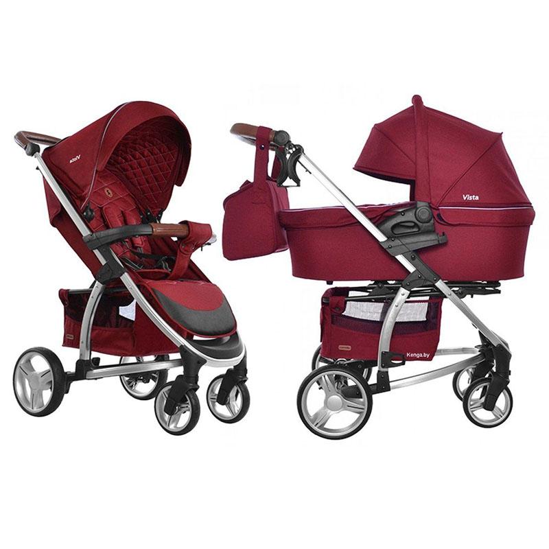 Детская коляска 2 в 1 CARRELLO Vista CRL-6501 RUBY RED