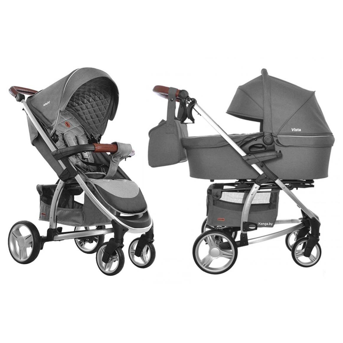 Детская коляска 2 в 1 CARRELLO Vista CRL-6501 SHARK GRAY