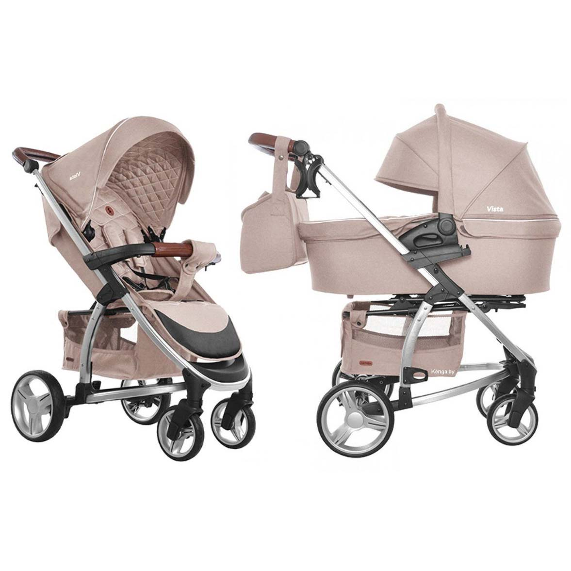 Детская коляска 2 в 1 CARRELLO Vista CRL-6501 STONE BEIGE
