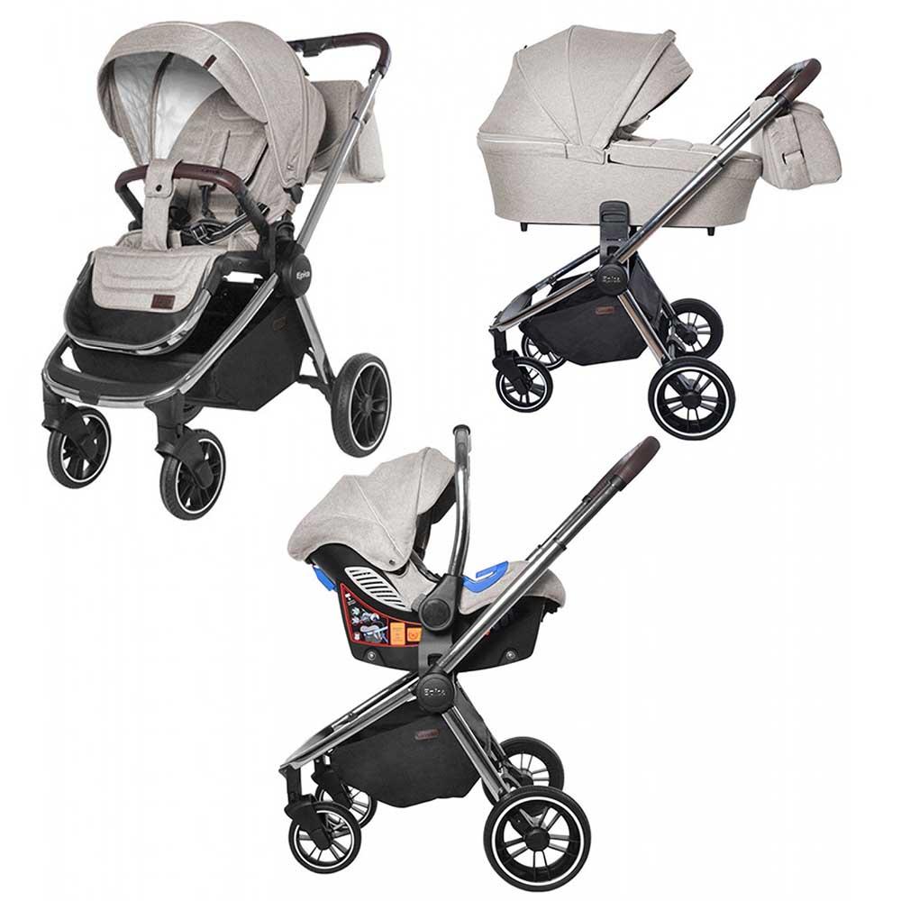 Детская коляска 3 в 1 CARRELLO  Epica CRL-8515  Almond Beige