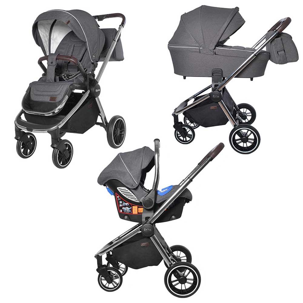 Детская коляска 3 в 1 CARRELLO  Epica CRL-8515  Iron Grey
