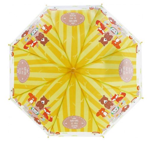 53735 Зонт детский Лесная семейка, 48см, свисток, полуавтомат