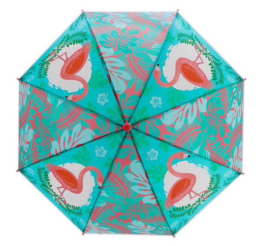 53733 Зонт детский Фламинго, 48см, свисток, полуавтомат
