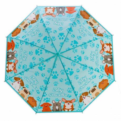 53736 Зонт детский Щенки, 48см, свисток, полуавтомат