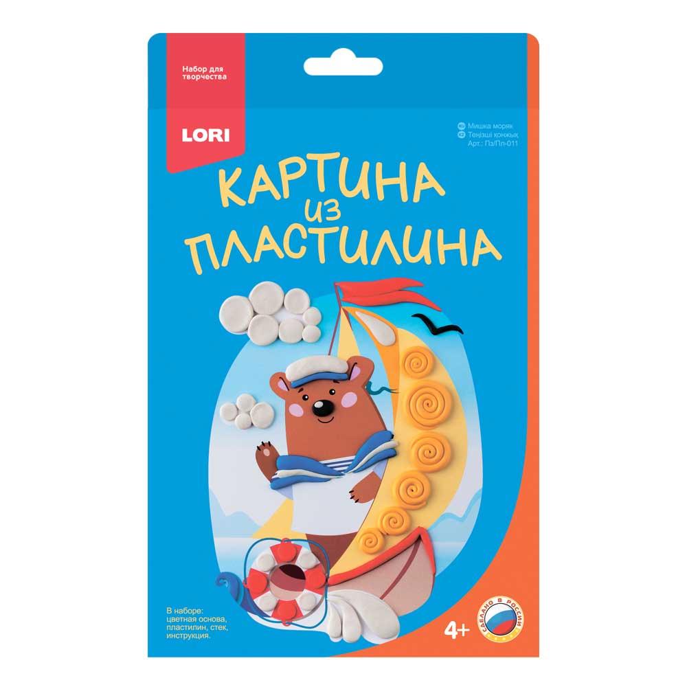 "Картина из пластилина ""Мишка моряк"" Пз/Пл-011"