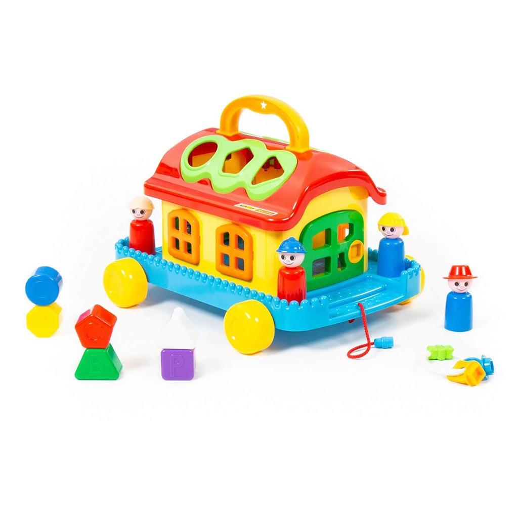 Сказочный домик на колёсиках (в сеточке) 48769