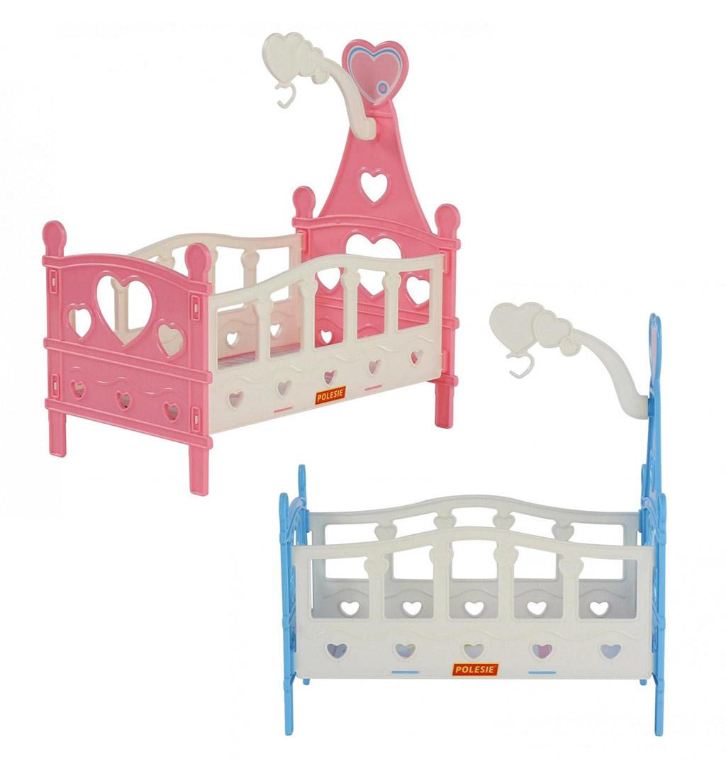Кроватка сборная для кукол №3 (6 элементов) (в пакете) 62055