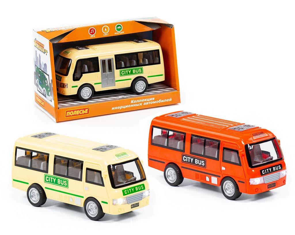 """""""Городской автобус"""", автомобиль инерционный (со светом и звуком) (в коробке) 78964"""