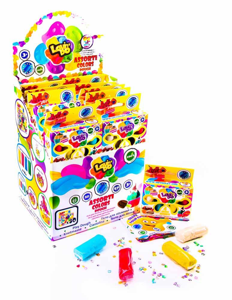 41027 Набор теста для лепки  Ассорти 4 цвета
