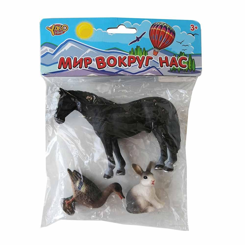 """Набор животных. """"Мир вокруг нас"""". (лошадь, зайчик и гусь) Арт. M7593-4"""