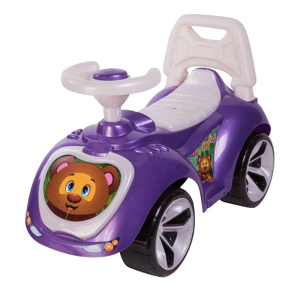 Игрушка Машина-каталка Лапка, фиолетовый 758_Н