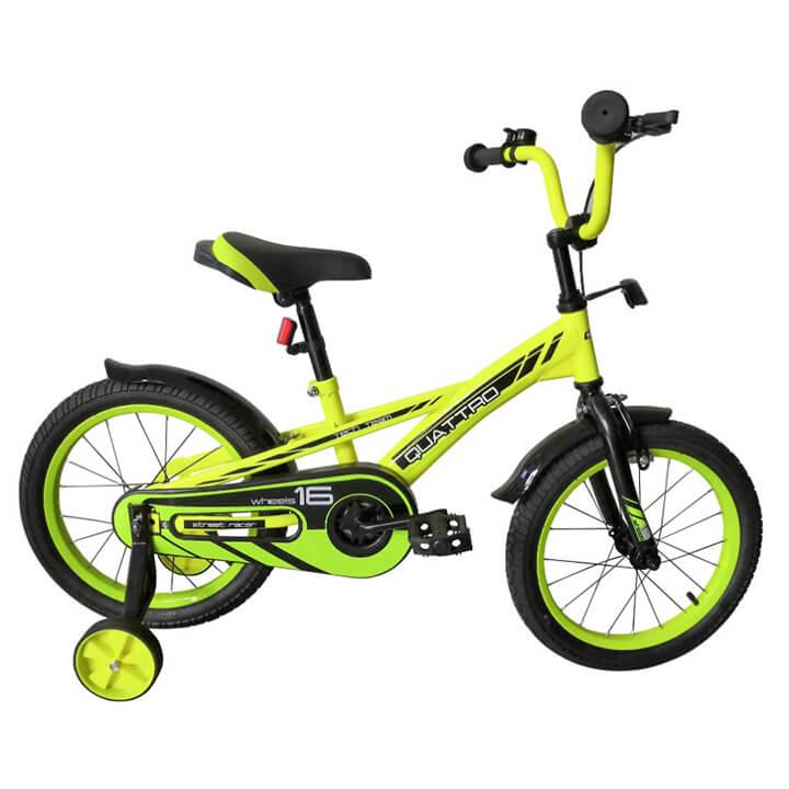 """Велосипед TechTeam Quattro 18"""" неоновый зеленый (сталь)"""