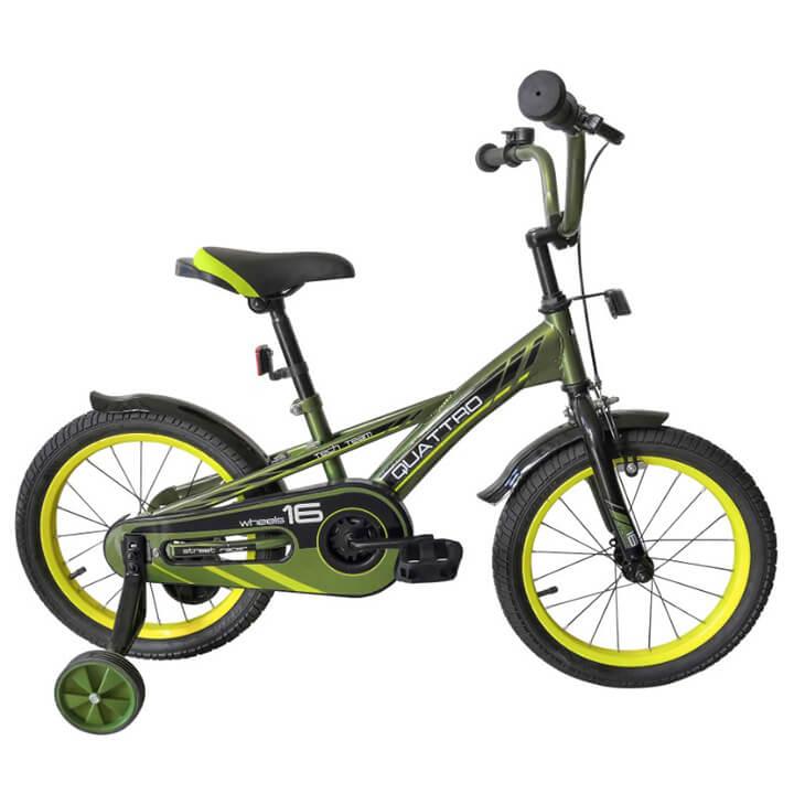 """Велосипед TechTeam Quattro 18"""" хаки (сталь)"""
