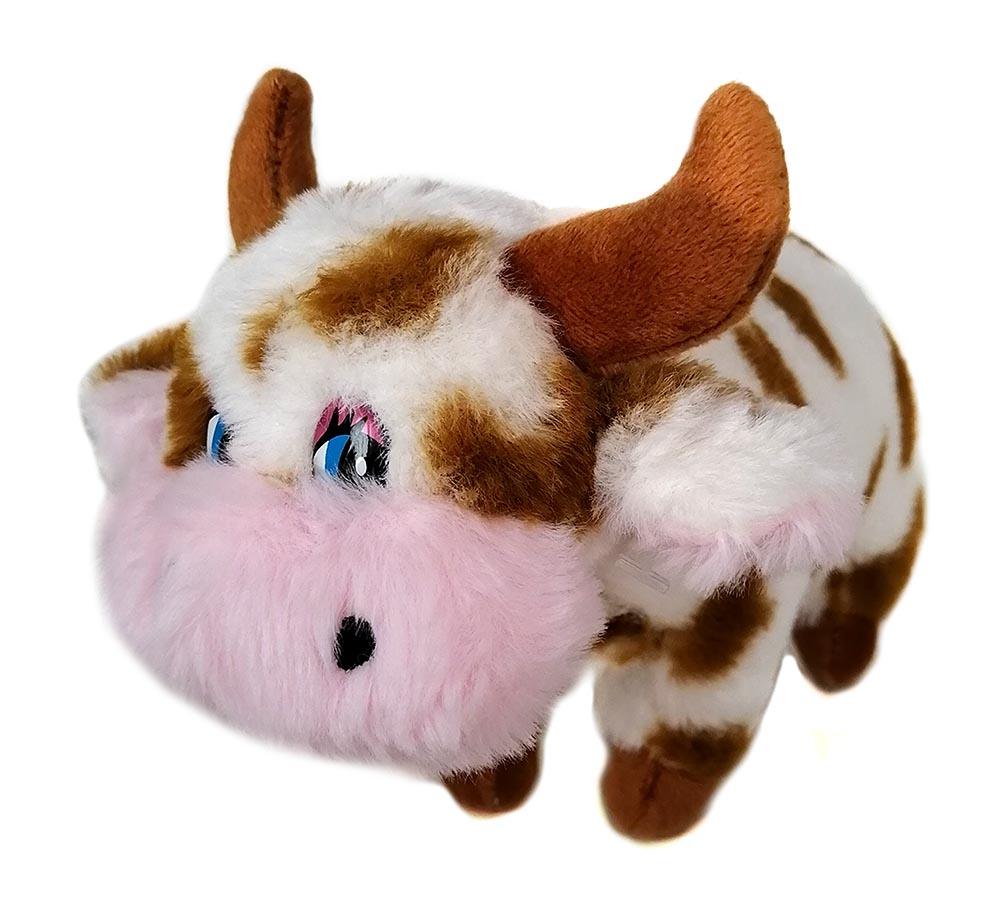 """Мягкая игрушка из плюша """"Корова"""", размер 20см,цвет коричневый,в пакете (Арт. MR33)"""