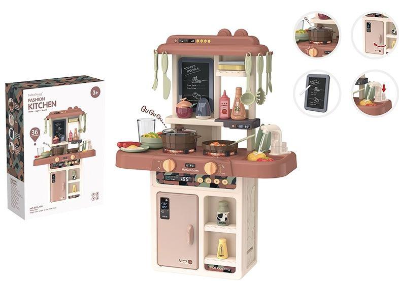 """Игровой модуль """"Кухня"""" №889-190/36 предметов/звук,свет, льется вода/49,5*14,5*35"""