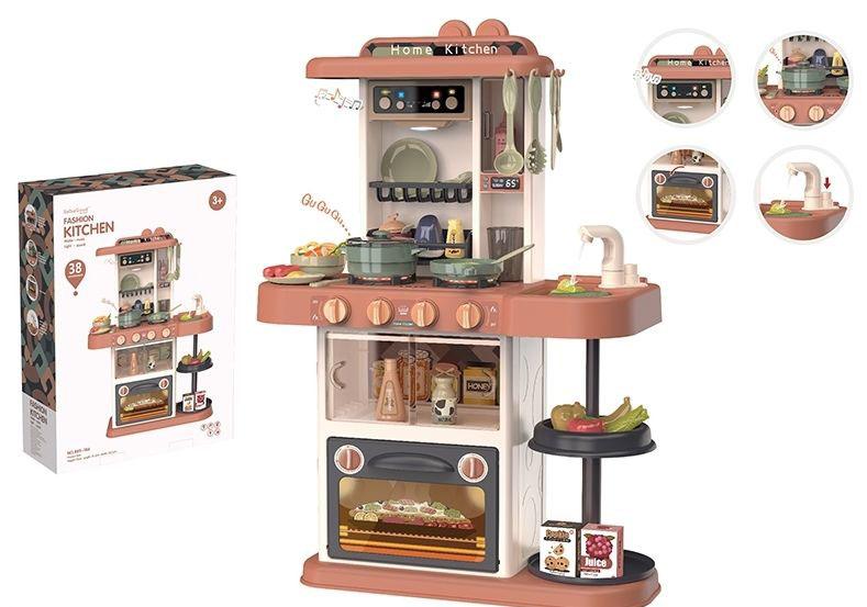 """Игровой модуль """"Кухня"""" №889-186/38 предметов/звук,свет, льется вода/59,5*16*44"""