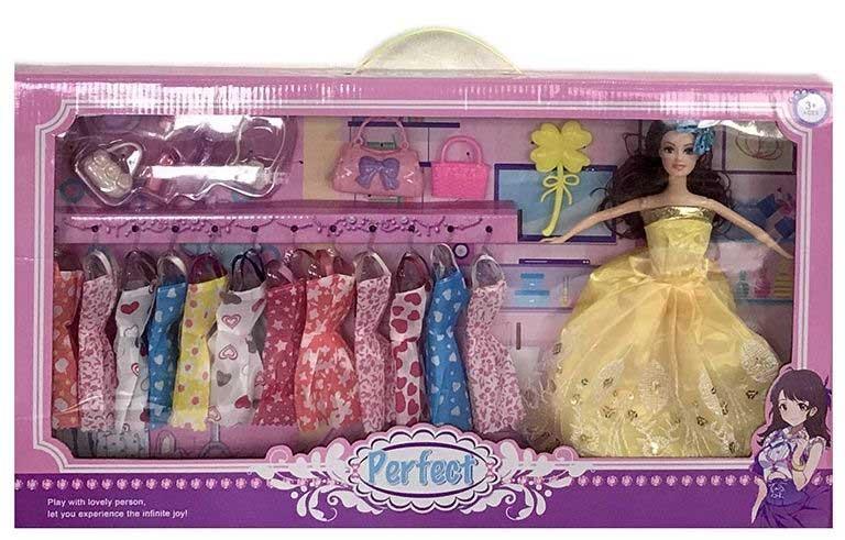 Кукла №2058-2 с набором одежды и аксессуарами/коробка/58*6*32,5