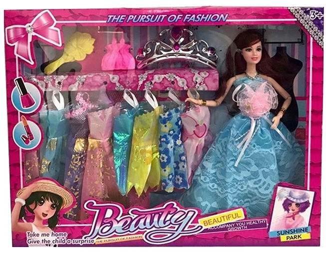Кукла №R838 с набором одежды и аксессуарами/коробка/40*5,5*32,5