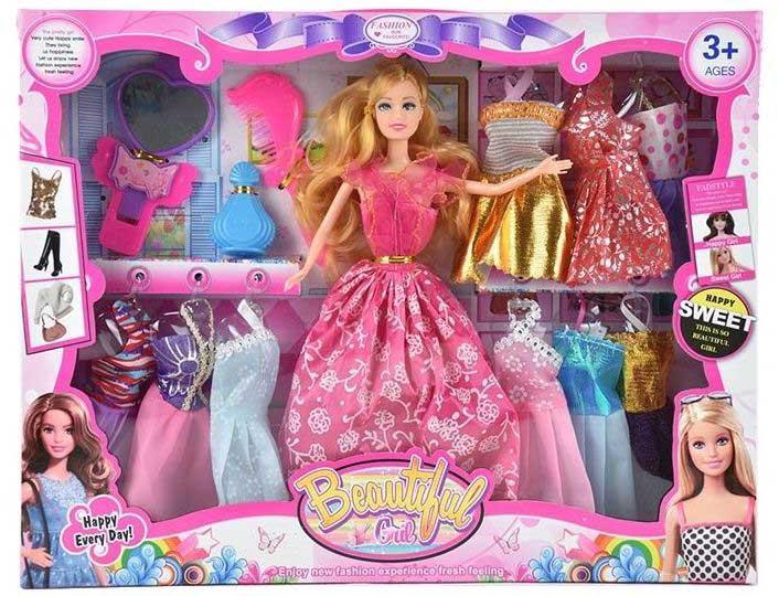 Кукла №HBB46 с набором одежды и аксессуарами/коробка/32,5*5*32
