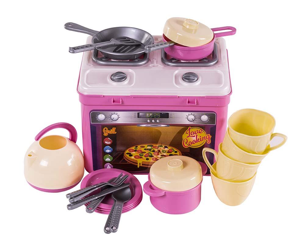 Кухня игровая Адель, с набором, 22 пр. в кор. 816в2