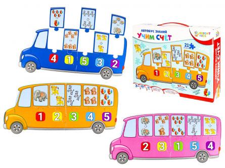 BRIGHT KIDS. Автобус знаний. УЧИМ СЧЕТ Арт. (ИН-7640)