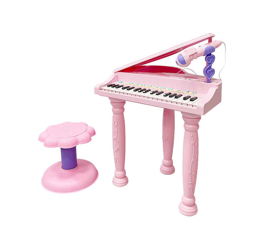 Музыкальный детский центр-пианино Everflo Grand HS0384709 pink