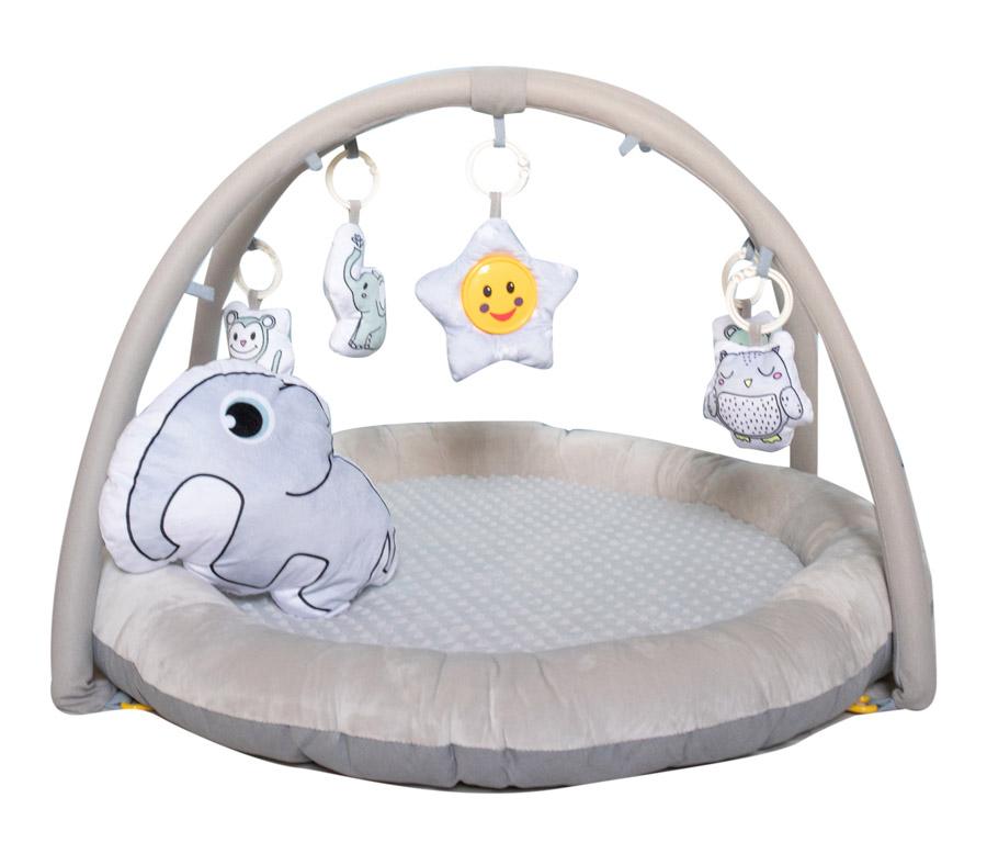 Развивающий коврик Everflo Animals World grey HS0431264