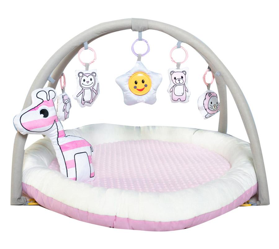 Развивающий коврик Everflo Animals World pink HS0431265