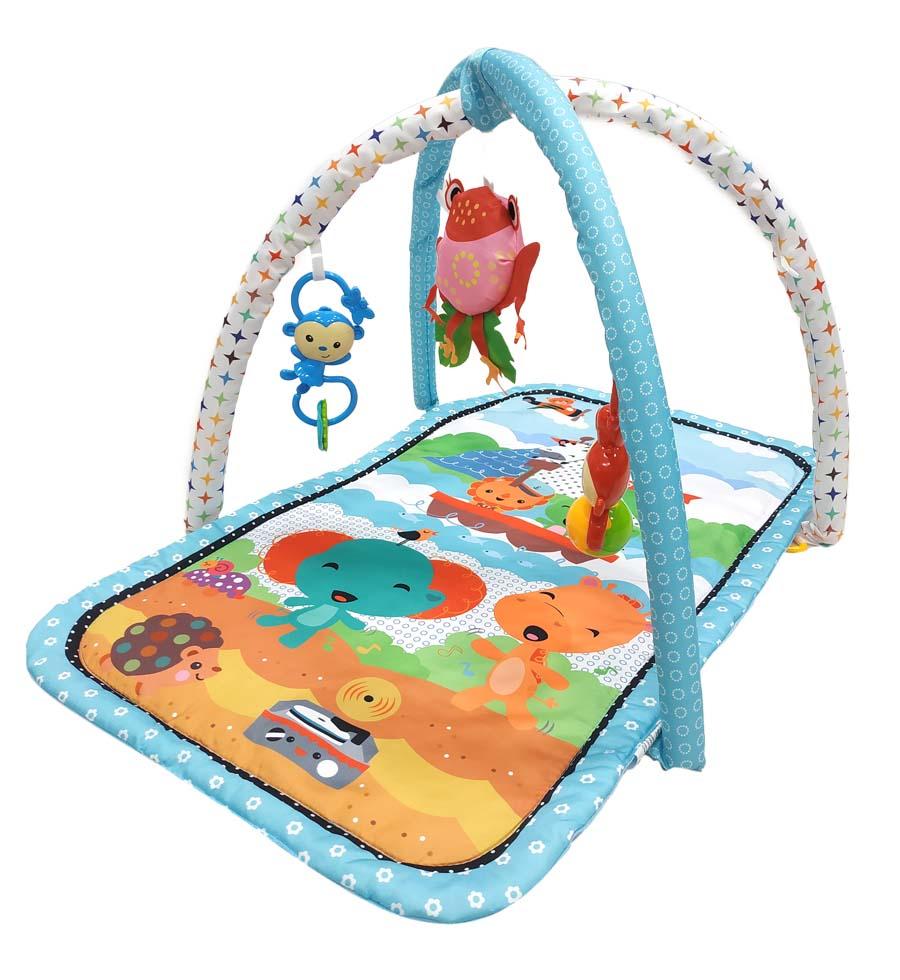 Развивающий коврик Everflo Summer голубой HS0428701