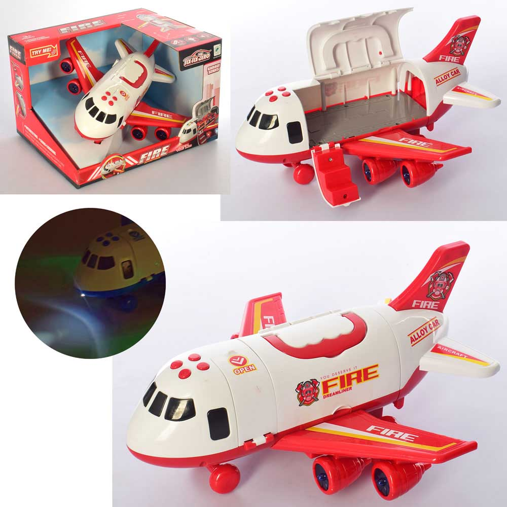 Самолет грузовой №660-A243/звук,свет/коробка/30,5*25*30