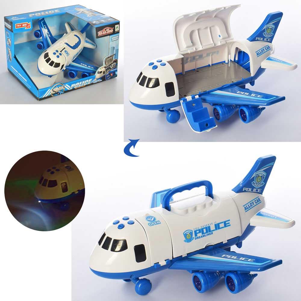 Самолет грузовой №660-A242/звук,свет/коробка/30,5*25*30