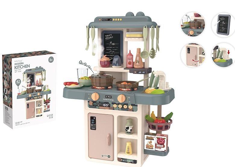 """Игровой модуль """"Кухня"""" №889-187/42 предмета/звук,свет, льется вода/49,5*14,5*35"""