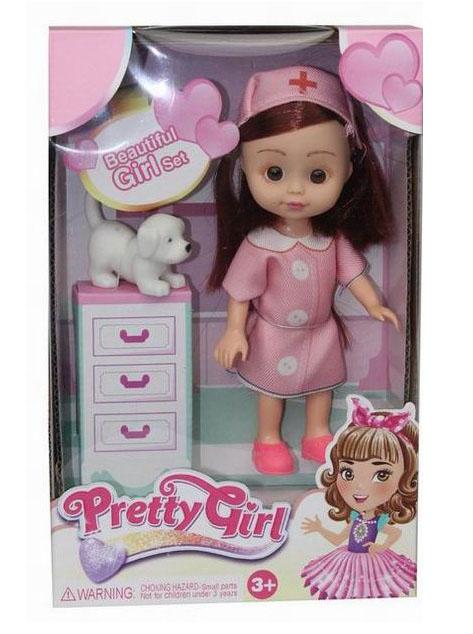 Кукла №658-1А Доктор с питомцем/коробка/22*6*11